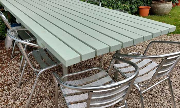 How to make a garden table in a day