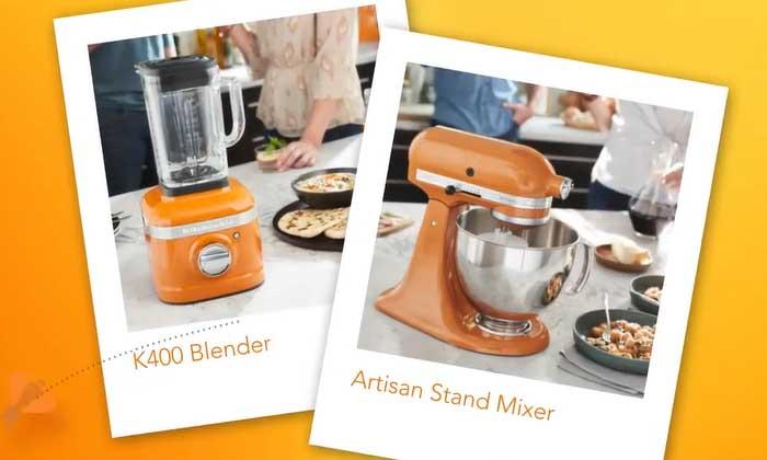 KitchenAid Launches new Honey Colour Blender & Mixer