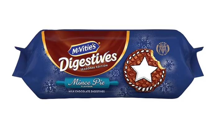 McVitie's mince pie milk chocolate digestives launched