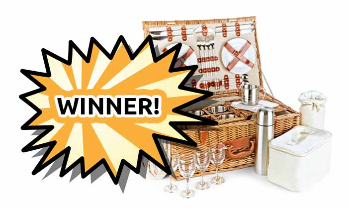 Winner of our Luxury Picnic basket competition announced