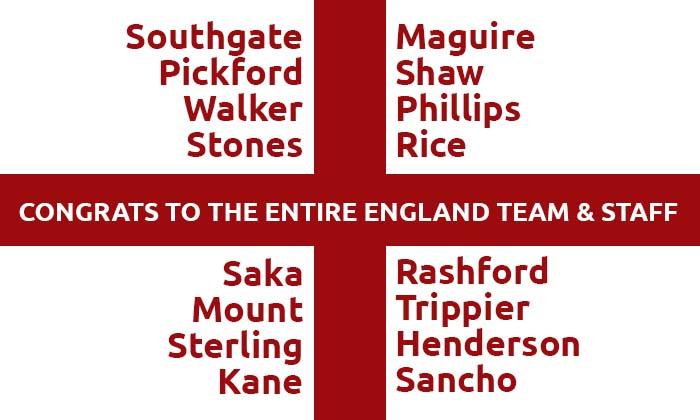 Thanks England Euro 2020 Team