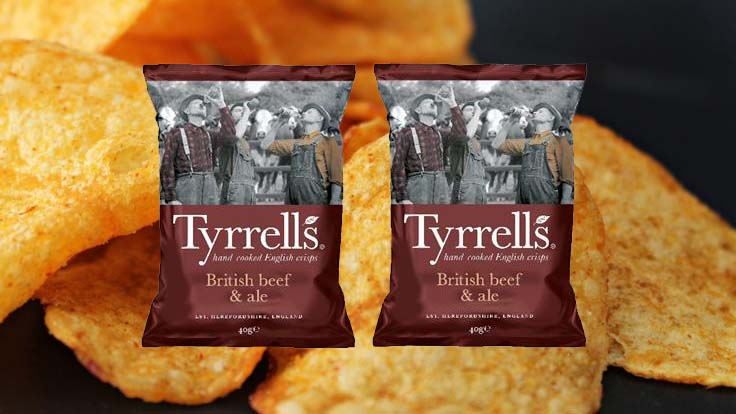Tyrrells unveils British Beef & Ale flavour crisps