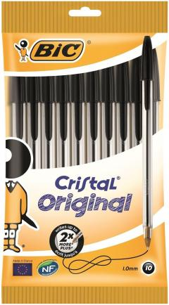 42% off BIC Cristal Original Ballpoint Pens Black 10 Pack