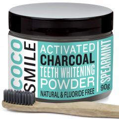 Cocosmile Natural Tooth Whitening Powder and Toothbrush