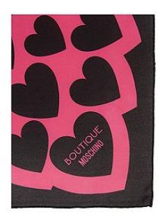 £25 Off Boutique Moschino Silk Hearts Scarf