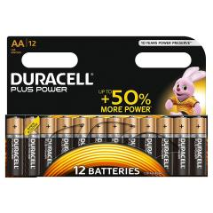 £5.50 for Pack of 12 Duracell AA Plus Power Batteries