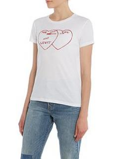 Levi's Heart Graphic Tee less than half price!!