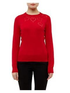 Ted Baker Cashmere Heart Cut Out Jumper Reduced