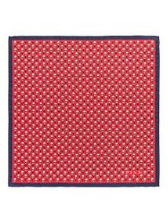 Thomas Pink Heart & Flower Pocket Square