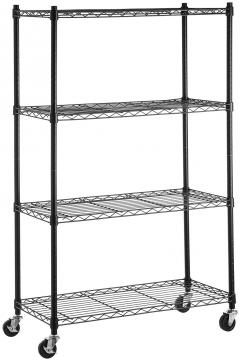 20% off 4-Shelf Shelving Unit on 3'' Casters, Black