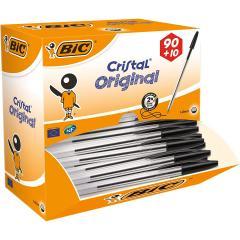 38% off BIC Cristal Original Ballpoint Pens Black 90+10 Box