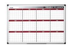 59% off Bi-Office Annual Planner, Magnetic, Aluminium Frame