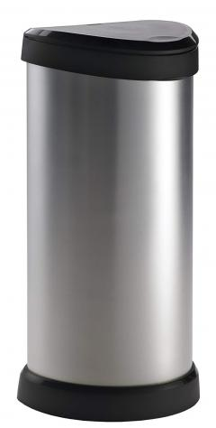 £28 off Curver 40 L Metal Effect Plastic One Touch Deco Bin