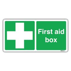 £2.11 for First Aid Box Sign Self-adhesive Vinyl Sticker