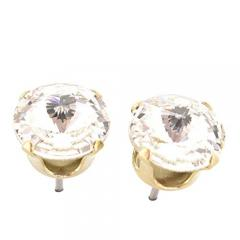 91% off Gold Stud earrings from SWAROVSKI