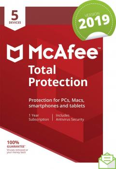 £32.50 off McAfee 2019 Total Protection, 5 Devices