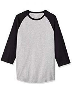 £6.75 for Men's Slim-fit 3/4 Sleeve Baseball T-Shirt