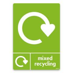 15% off Mixed Recycling Bin vinyl Sticker WRAP