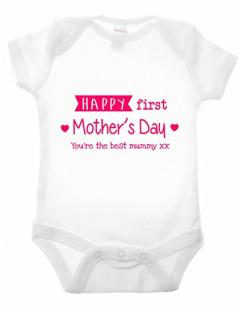 New Mum Mother's Day Baby Grow Gift
