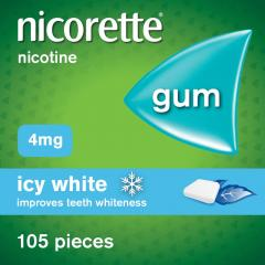 £10 off Nicorette Icy White Chewing Whitening Gum