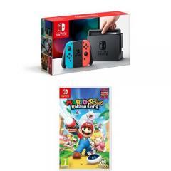 £12.68 off Nintendo Switch Neon with Mario Rabbids