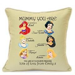Personalised Disney Princess Cushion for Mums