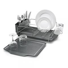 £25 for Polder 4-Piece Advantage Dish Rack System, Grey