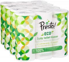 £12.55 for Presto! 3-Ply ECO Toilet Tissues, 36 Rolls