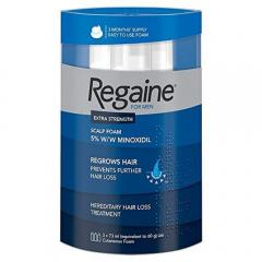 49% off Regaine For Men Hair Regrowth Foam, 3 x 73 ml