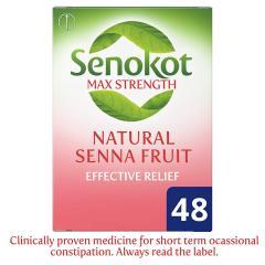 22% off Senokot Max Strength Senna, 48 Tablets