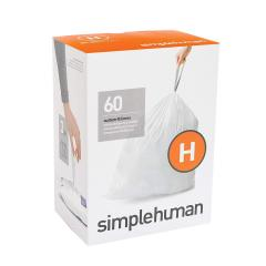 £4 off simplehuman, code H custom fit bin liners, 60 pack