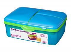 25% off Sistema Lunch Slimline Quaddie, 1.5 L - Blue/Green