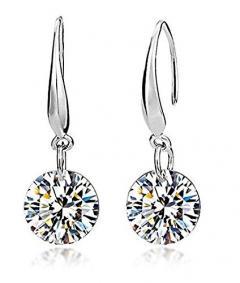 70% off Sterling Silver Crystal Rhinestone Earrings