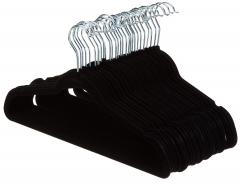 £10.99 for Suit Hangers, Velvet - Black, Set of 30