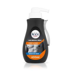 23% off Veet Chest and Body Men Hair Removal Cream, 400 ml