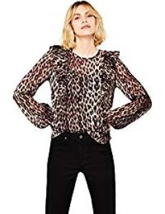 £22.40 for find. Women's Animal Print Ruffle Top