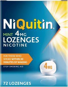 £6.40 off NiQuitin Mint 4 mg Lozenges - Effective Smoking