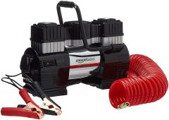 50% off Portable Air Compressor, Dual Battery Clamps