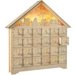 24% off Pre-Lit Wooden Village Scene Advent Calendar
