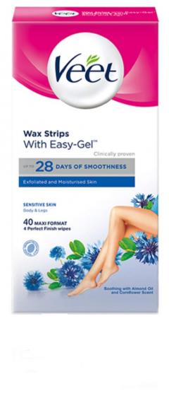 £5.40 for Veet Wax Strips Sensitive Skin for Body and Legs
