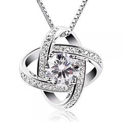 £6 off Women Necklaces Sterling Silver Cubic Pendant