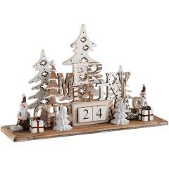 £5 off Wooden Christmas Scene Advent Calendar