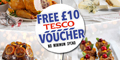 Free £10 Tesco Voucher with No Minimum Spend