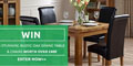 Win a Rustic Oak Dining Table & Chairs