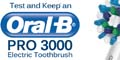 Free OralB Pro 3000 Electric Toothbrush