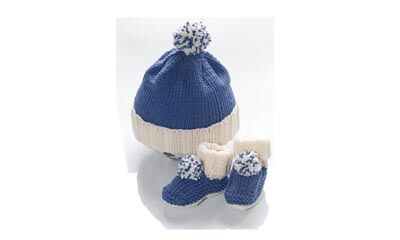 Free Baby Bobble Hat and Booties Knitting Pattern