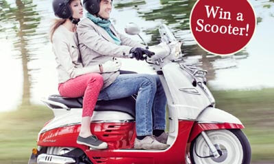 Win Strawberries and Cream Scooter with Poshcorn