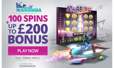 Up to 100 Spins and £200 Bonus