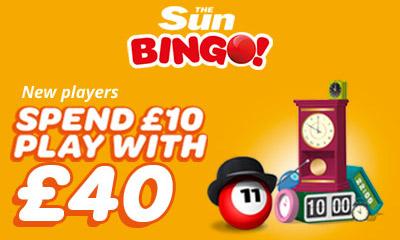 Free £30 Bingo Cash with Sun Bingo