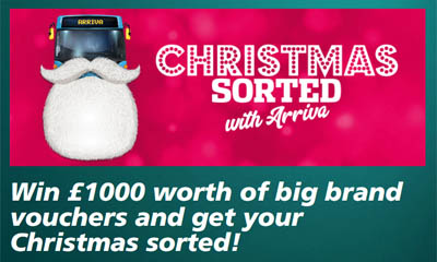 Win Shopping Vouchers with Arriva Bus